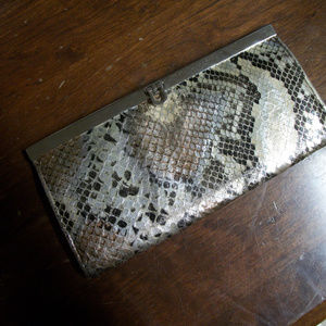 unbranded Bags - Metallic Python Embossed Wallet clutch organizer